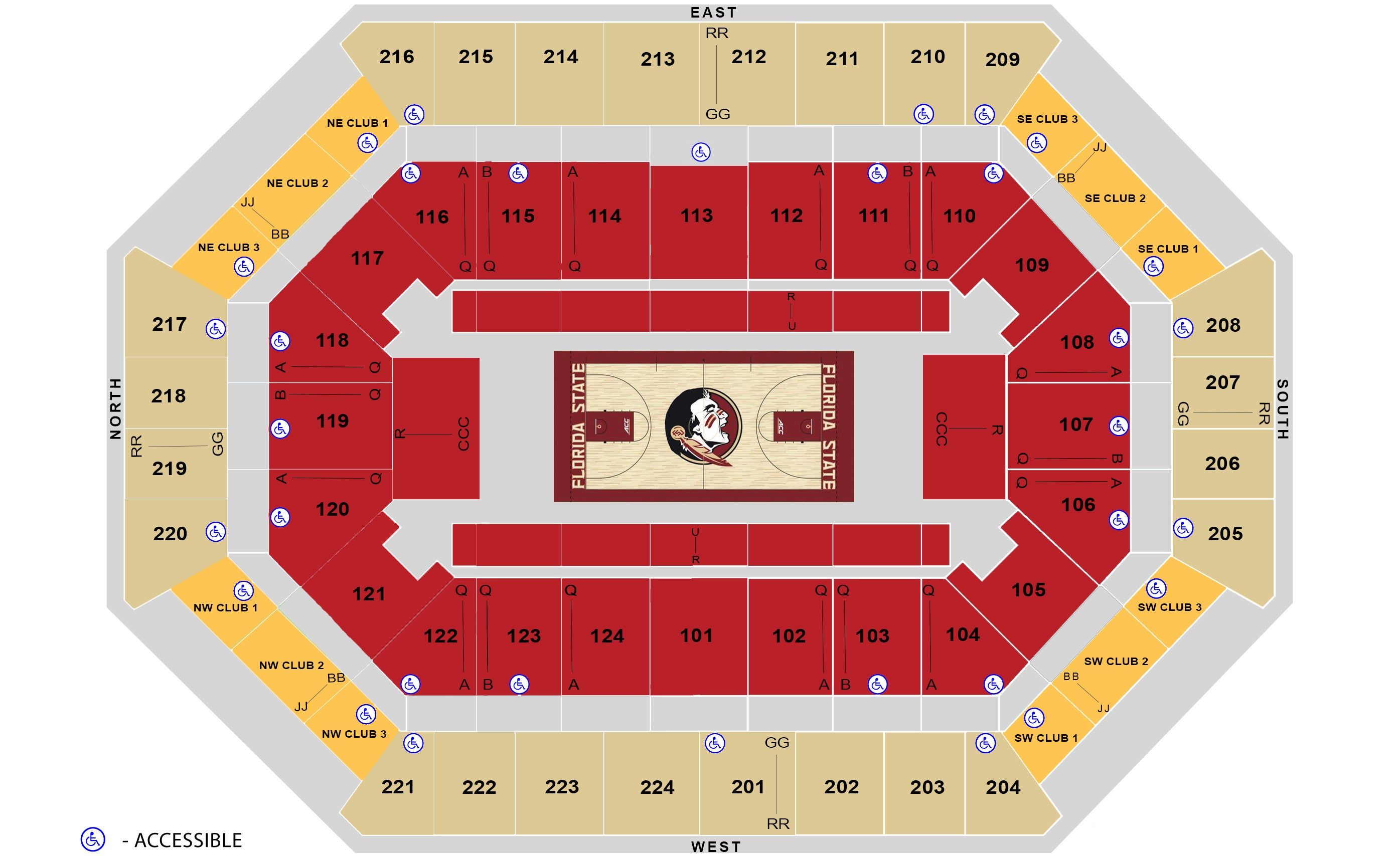 Seating Charts | Donald L Tucker Civic Center